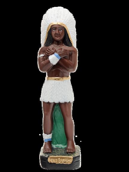 Caboclo Pena Branca (em pé) -  20 cm