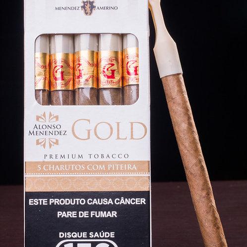Cigarrilha Alonso Menendez Gold com Piteira- Unidade