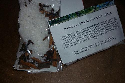 Sal Grosso c/ Cravo e Canela - Banhos de Ervas Sete Luzes