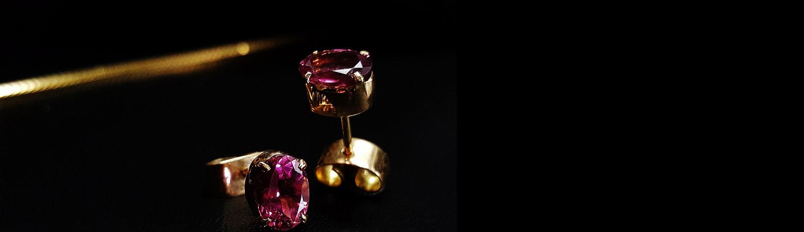 Ohrringe Turmalin, pink Turmalin Ohrringe, 18K gold Ohrringe, Turmalin und 750 Gold, Ohrringe Damen, Gemory Design Erlangen