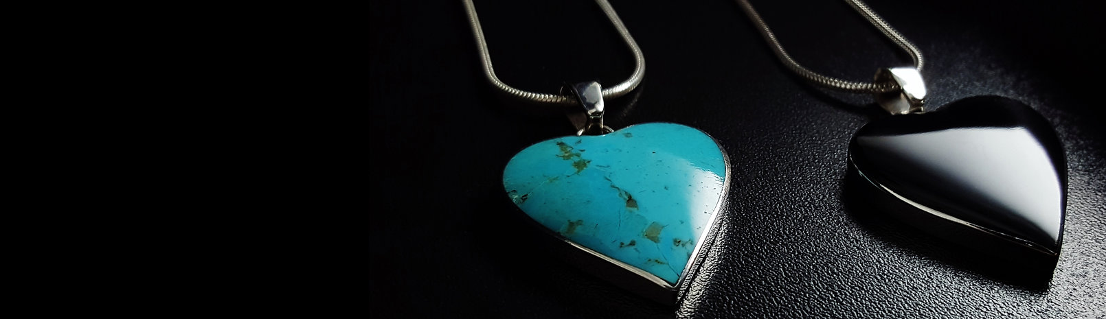 Gemory necklace pendant for women, chain pendant for her, heart pendants, black pendant, turquoise pendant