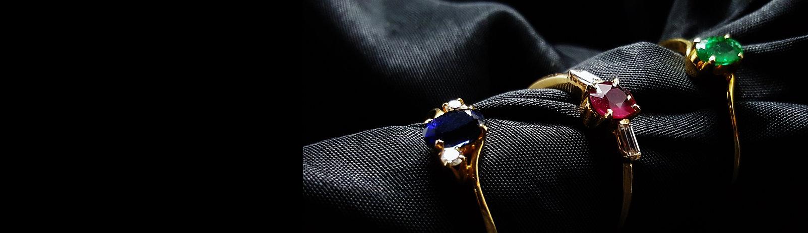 Gemory Design Erlangen, Edelstein Ring, Saphir Ring, Rubin Ring, Smaragd Ring, 18K gold Ring Damen