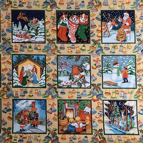 Christmas Fabric Panel