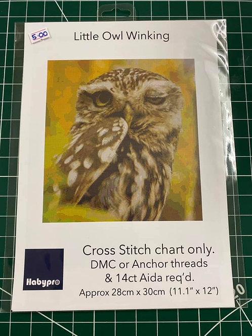 Cross Stitch Chart Owl