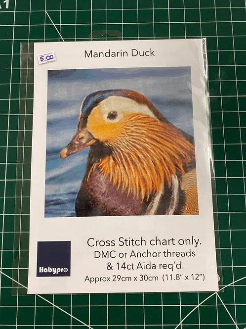 Cross Stitch Chart Mandarin Duck