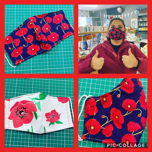 Poppy Appeal Face Masks