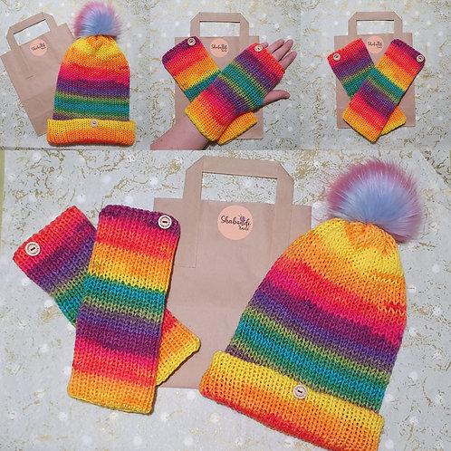 Rainbow Bobble Hat