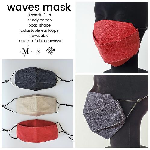waves mask - boat-shape