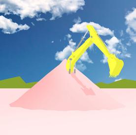 Digger Digging Itself photo of sky
