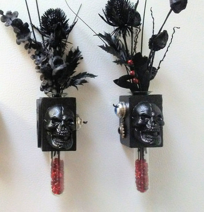 Spooky Floral Magnets