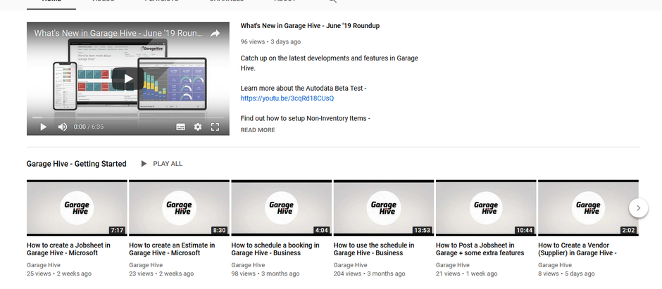 Are you subscribed to Garage Hive's YouTube channel?