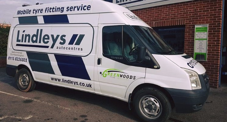 Mobile Tyre van Nottingham