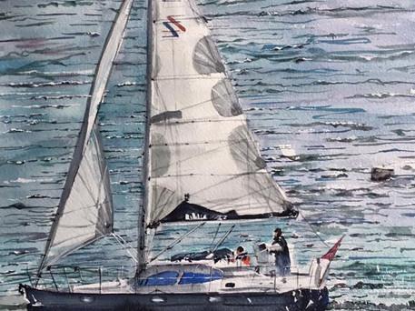 Sailing the Cornish Sea