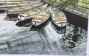 The rowing boats on the Riven Avon in Stratford