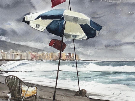 A windy day in Tenerife