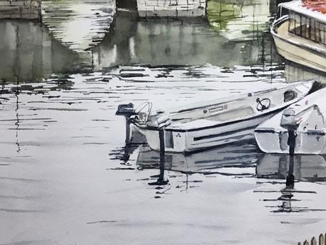 Clopton Bridge motor boats, Stratford Upon Avon