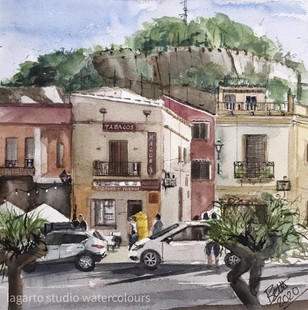 Spain, Dénia and the castle walls