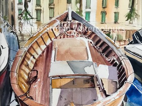 Boat in Bosa Harbour