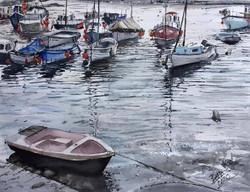 Dusk in Fowey Harbour