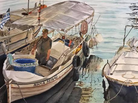 Fisherman in Chania