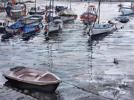 Fowey harbour Cornwall