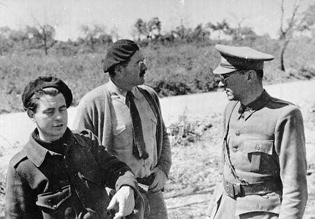 Joris Ivens Ernest Hemingway en Ludwig Renn
