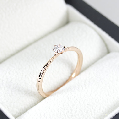 Brillant-Solitärring 0,15 ct