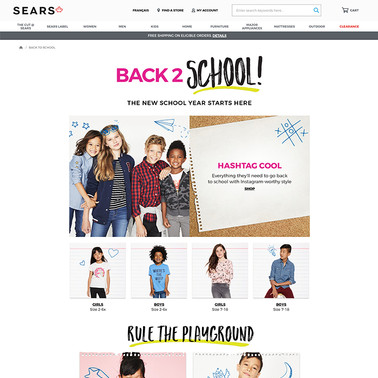 Sears Back 2 School