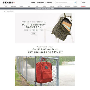 Sears Backpack Campaign