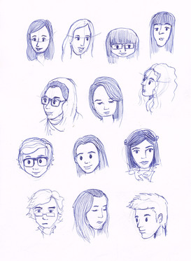 Caricatures of classmates