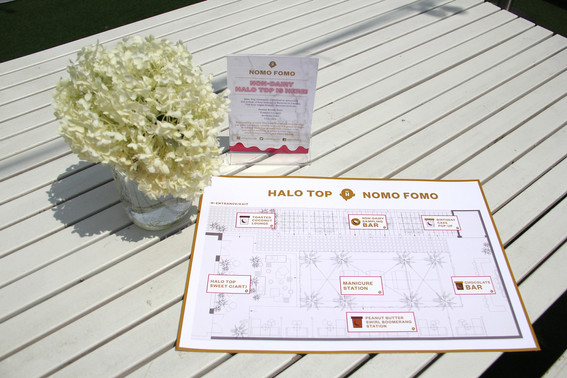 Halo Top NOMO FOMO: Maps and table signs