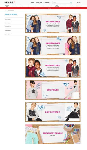 Marketing Banners for Desktop