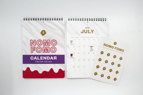 Halo Top NOMO FOMO media kit: calendar