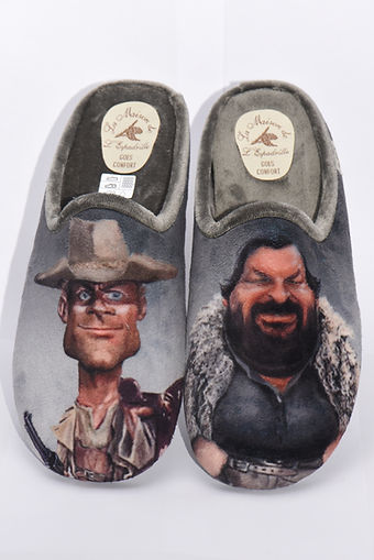 chaussons, pantoufles, Terence Hill et Bud Spencer