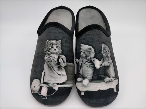 Chaussons chat femme - MARTHE