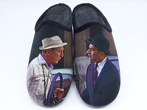 Chaussons Le Corniaud. Chaussons films cultes