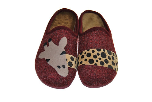 Chaussons mules femme - Flanna (girafe)