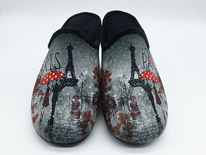chaussons femme rigolos, chaussons mules