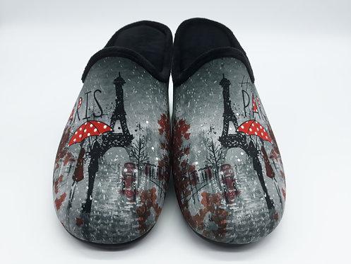 """Chaussons mules femme """"PARIS"""""""