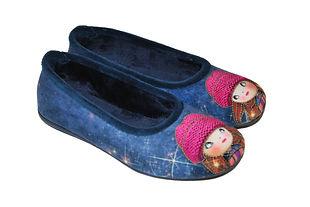 Pantoufles femme. Chaussons fantaisie.
