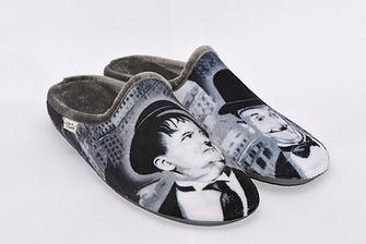 chaussons, pantoufles, Laurel et Hardy