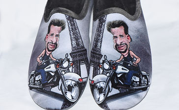 Pantoufles, chaussons, mules, johnny hallyday