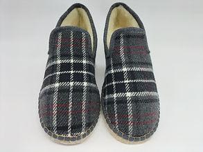 Charentaises écossaises, feutre, semelle feutre, chausson charentaise, artisanal