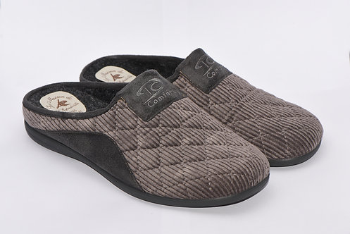 Chaussons mules homme - Humber (gris)