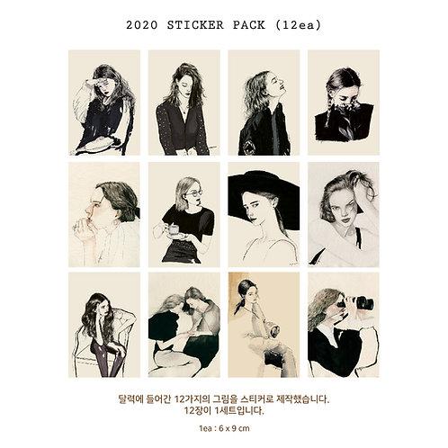 2020 Sticker pack (12ea)