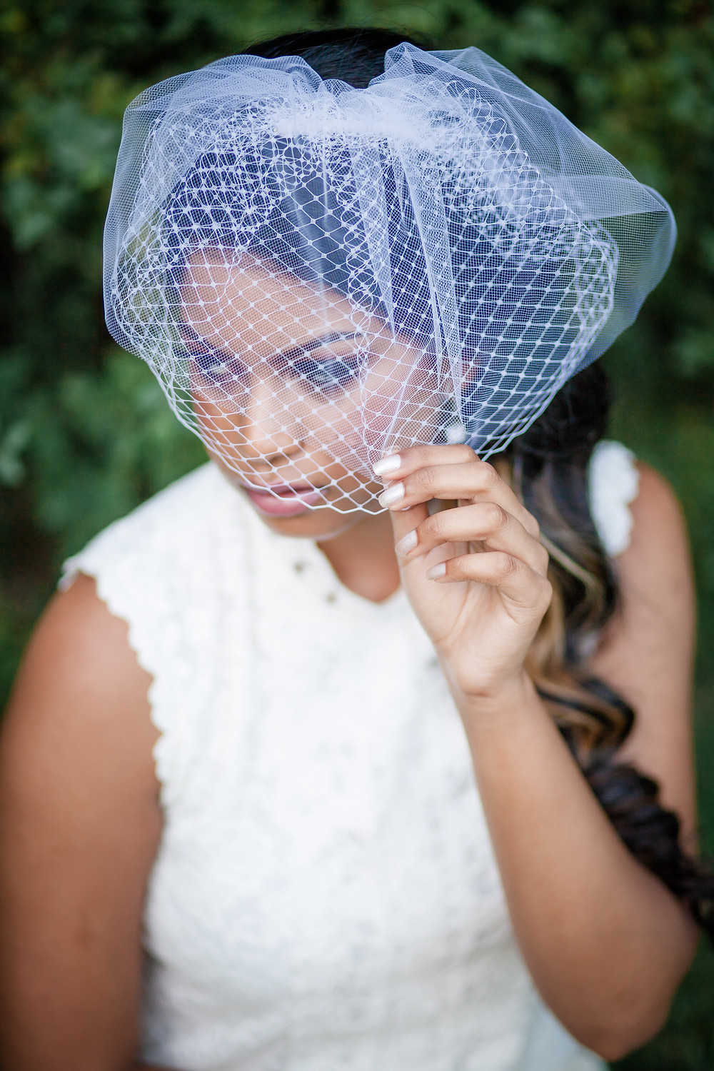 Double Layered Blusher Veil