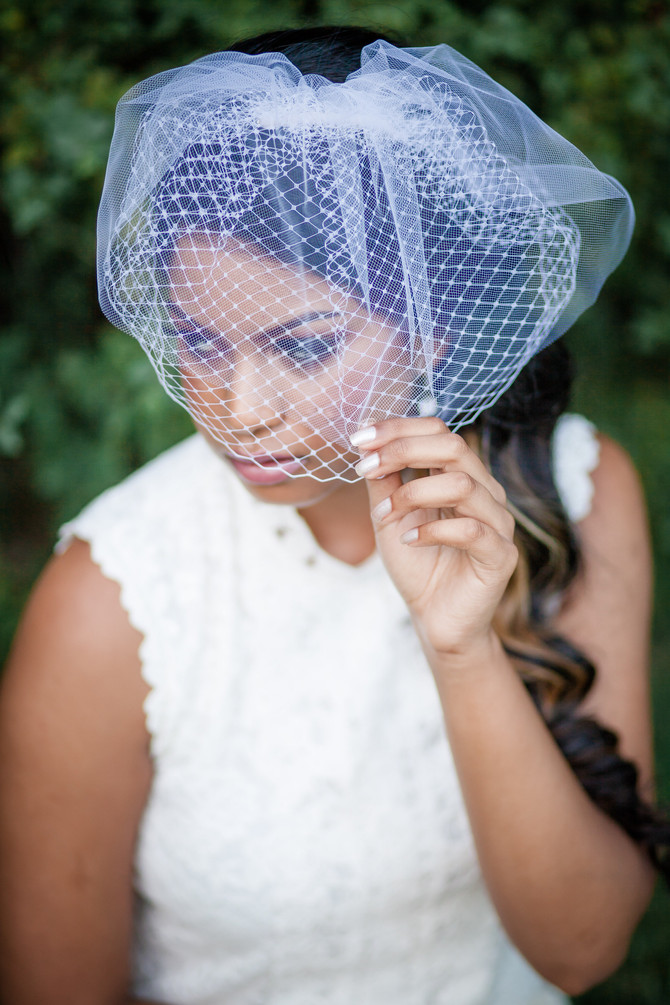 Choosing the Perfect Birdcage Veil Size!