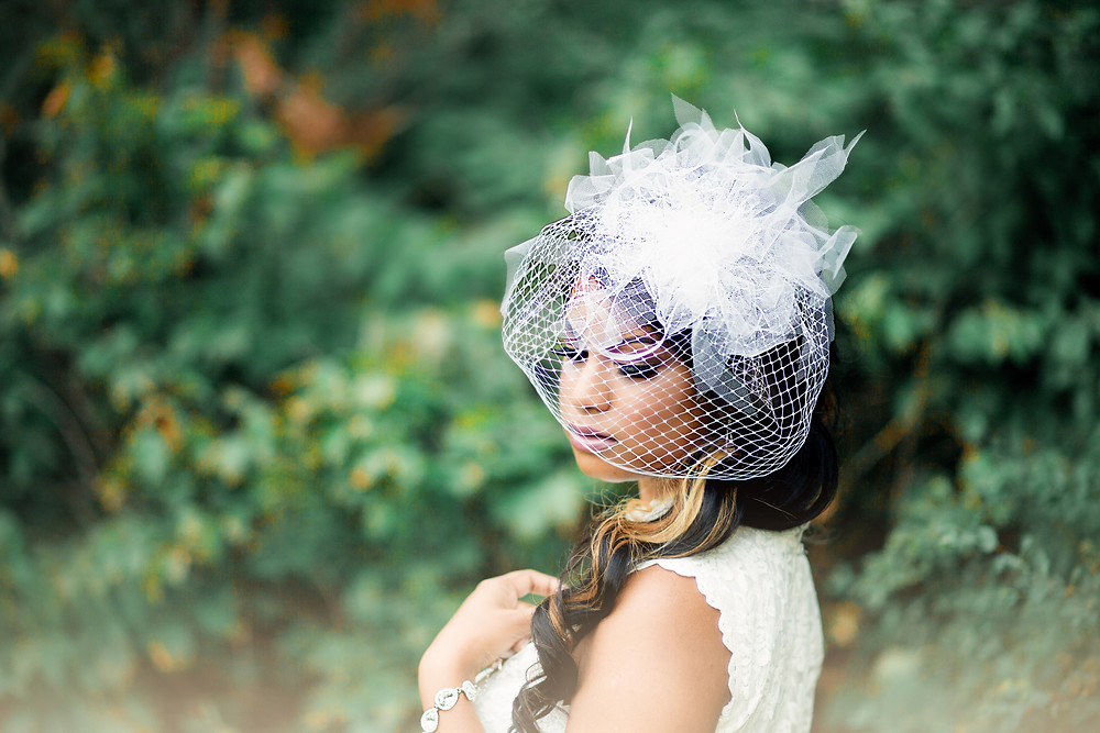 Bird Cage Veil - Ilieana George Couture