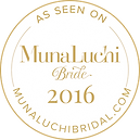 Ilieana George's wedding headpieces featured on the Munaluchi Bride website
