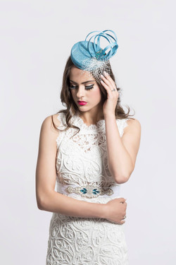 Bridal Fascinator- Blue